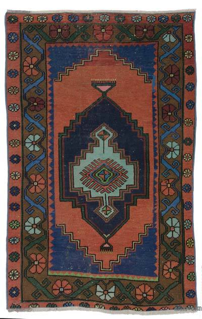 "Turkish Vintage Area Rug - 3'5"" x 5'3"" (41 in. x 63 in.)"