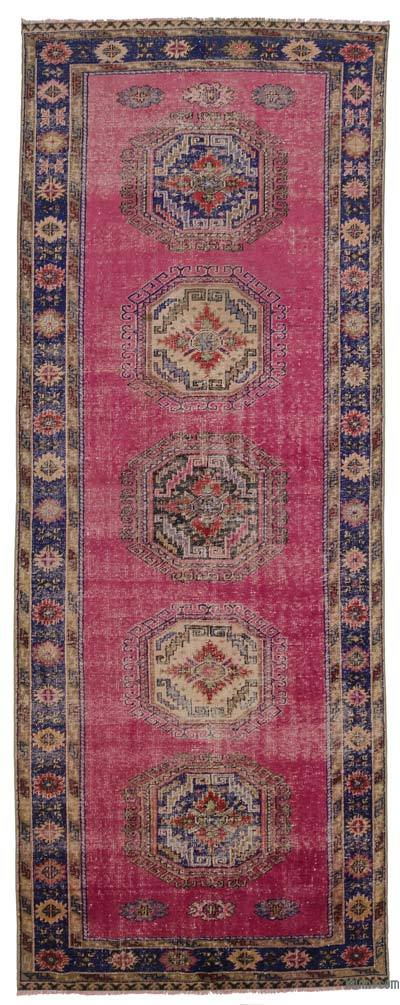 """Turkish Vintage Area Rug - 4'8"""" x 12'2"""" (56 in. x 146 in.)"""