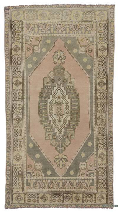 """Vintage Turkish Hand-Knotted Rug - 4' 1"""" x 7' 9"""" (49 in. x 93 in.)"""