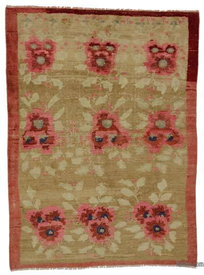 "Turkish Vintage Area Rug - 4'11"" x 6'6"" (59 in. x 78 in.)"