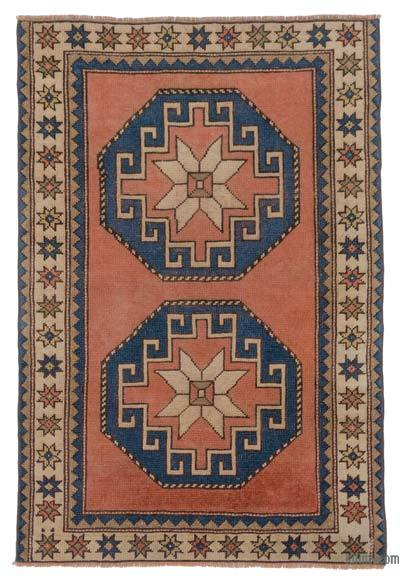 "Turkish Vintage Area Rug - 3'4"" x 4'11"" (40 in. x 59 in.)"