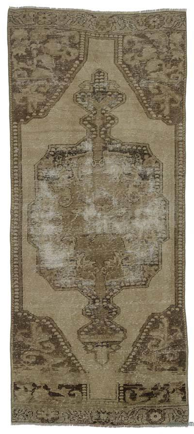 """Turkish Vintage Area Rug - 3'1"""" x 7'7"""" (37 in. x 91 in.)"""