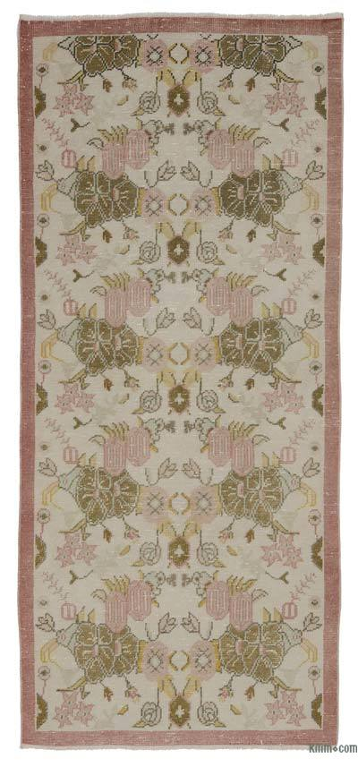 """Vintage Turkish Hand-Knotted Rug - 3' 1"""" x 7'  (37 in. x 84 in.)"""