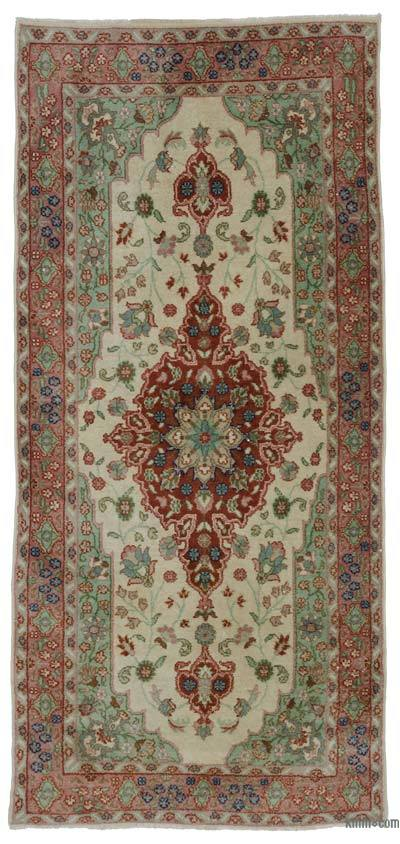 "Turkish Vintage Area Rug - 3' 9"" x 7' 11"" (45 in. x 95 in.)"