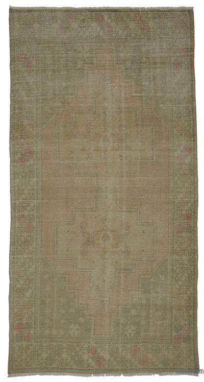 """Vintage Turkish Hand-Knotted Rug - 4' 3"""" x 8' 1"""" (51 in. x 97 in.)"""