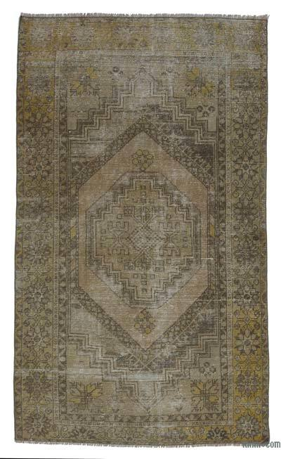 "Turkish Vintage Area Rug - 3' 6"" x 6'  (42 in. x 72 in.)"