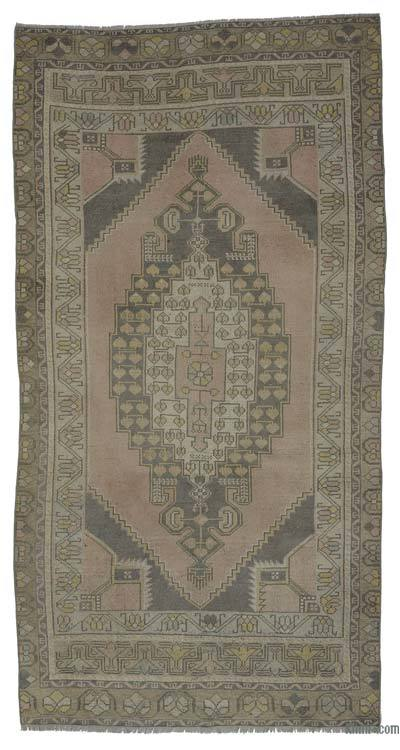 """Turkish Vintage Area Rug - 4' 4"""" x 8' 3"""" (52 in. x 99 in.)"""