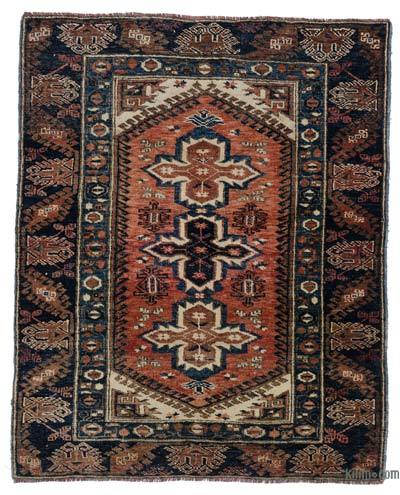 """Turkish Vintage Area Rug - 4' 6"""" x 5' 7"""" (54 in. x 67 in.)"""