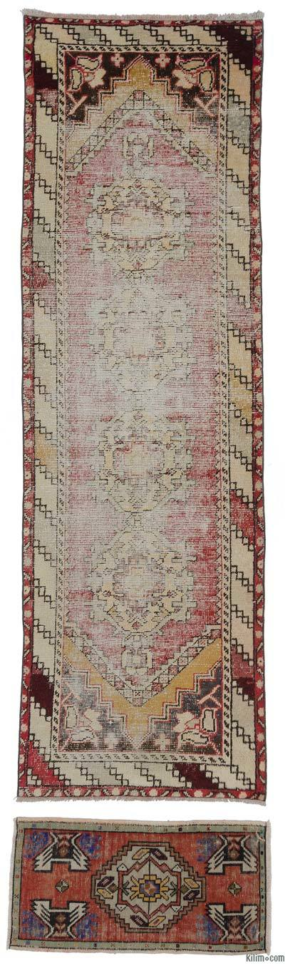 "Vintage Turkish Runner Rug - 3' x 9'8"" (36 in. x 116 in.)"