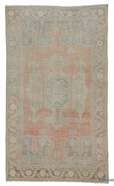 "Vintage Turkish Area Rug - 4' 2"" x 7' 3"" (50 in. x 87 in.)"