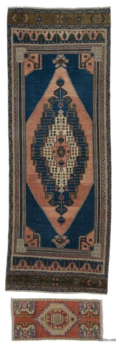 "Vintage Turkish Runner Rug - 3'9"" x 10'8"" (45 in. x 128 in.)"