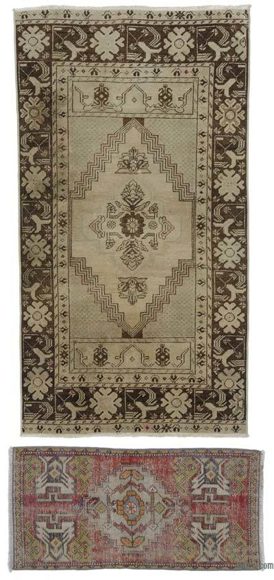 "Turkish Vintage Area Rug - 2'11"" x 5'5"" (35 in. x 65 in.)"