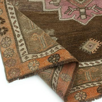 """Vintage Turkish Hand-Knotted Rug - 4' 10"""" x 10' 4"""" (58 in. x 124 in.) - K0045282"""