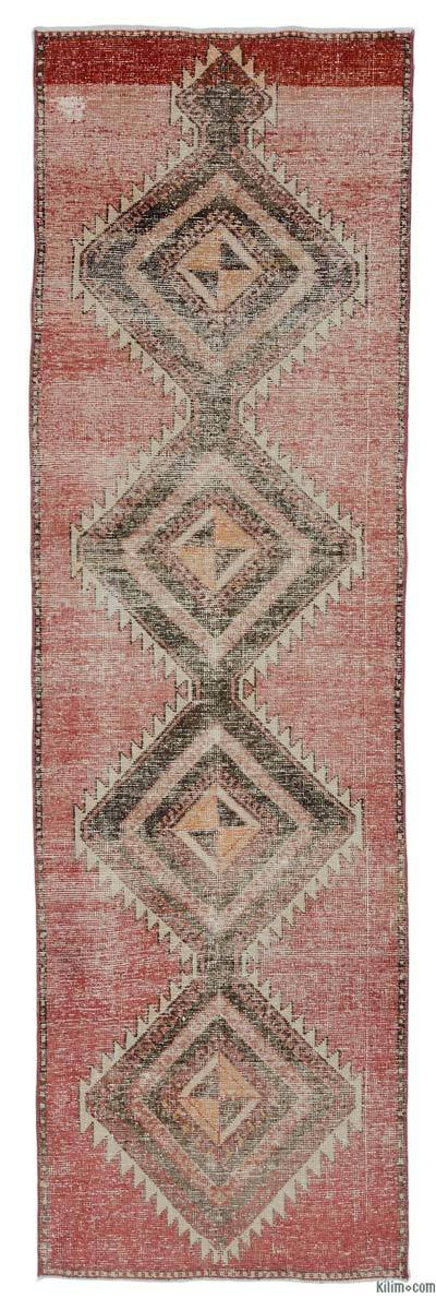 "Vintage Turkish Runner Rug - 3'  x 9' 11"" (36 in. x 119 in.)"