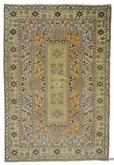 """Turkish Vintage Area Rug - 6' 9"""" x 10'  (81 in. x 120 in.)"""