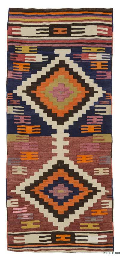 "Vintage Turkish Kilim Runner - 3' 2"" x 7' 3"" (38 in. x 87 in.)"