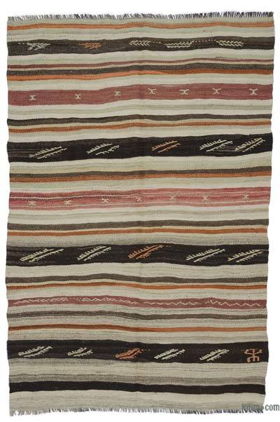 "Vintage Turkish Kilim Rug - 5' 9"" x 8' 5"" (69 in. x 101 in.)"
