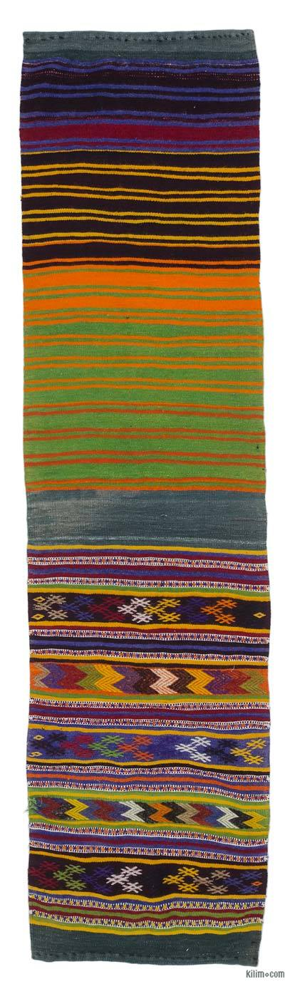 "Vintage Turkish Kilim Runner - 2' 4"" x 8' 8"" (28 in. x 104 in.)"