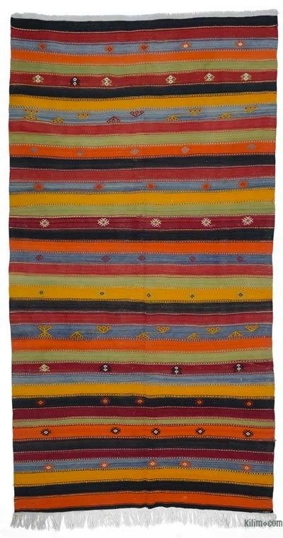"Vintage Turkish Kilim Rug - 5'8"" x 10'9"" (68 in. x 129 in.)"