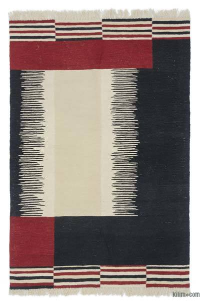 New Handwoven Turkish Kilim Rug - 4'  x 6'  (48 in. x 72 in.)