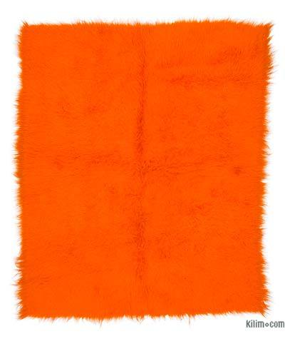 Orange Vintage Anatolian Tulu Rug