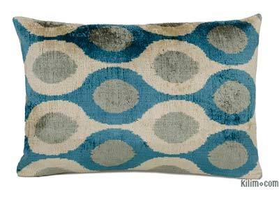 "Velvet Ikat Pillow Cover - 2'  x 1' 4"" (24 in. x 16 in.)"