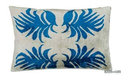 """Velvet Ikat Pillow Cover - 2' x 1'4"""" (24 in. x 16 in.)"""