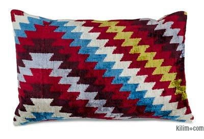 "Velvet Ikat Pillow Cover - 1' 11"" x 1' 3"" (23 in. x 15 in.)"