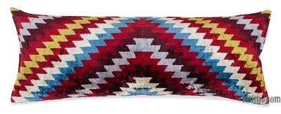 "Velvet Ikat Pillow Cover - 3' 3"" x 1' 3"" (39 in. x 15 in.)"