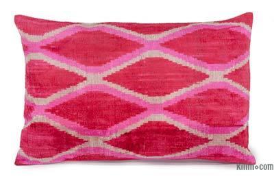 """Velvet Ikat Pillow Cover - 1' 11"""" x 1' 3"""" (23 in. x 15 in.)"""