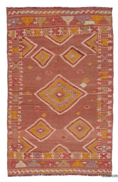 """Vintage Balikesir Kilim Rug - 3' 7"""" x 5' 7"""" (43 in. x 67 in.)"""