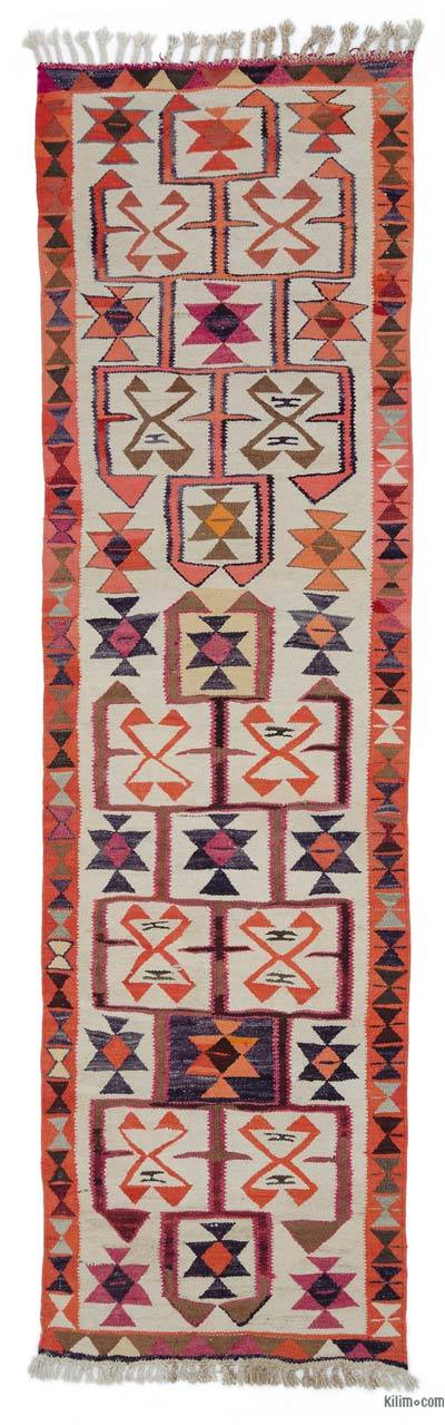 "Vintage Turkish Kilim Runner - 2' 11"" x 10' 4"" (35 in. x 124 in.)"