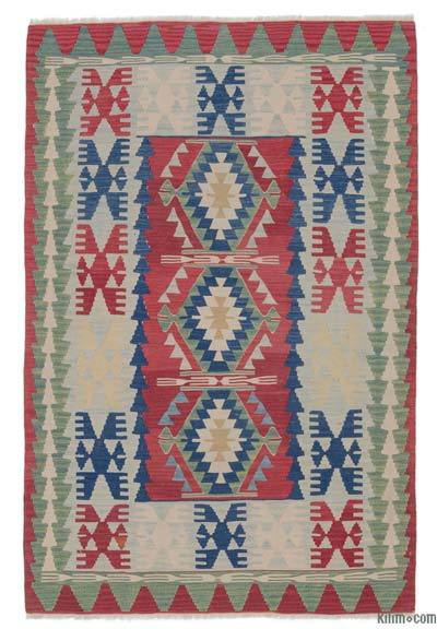 "Vintage Turkish Kilim Rug - 3' 9"" x 5' 7"" (45 in. x 67 in.)"