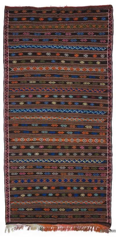 "Vintage Turkish Kilim Rug - 6' 1"" x 12' 2"" (73 in. x 146 in.)"