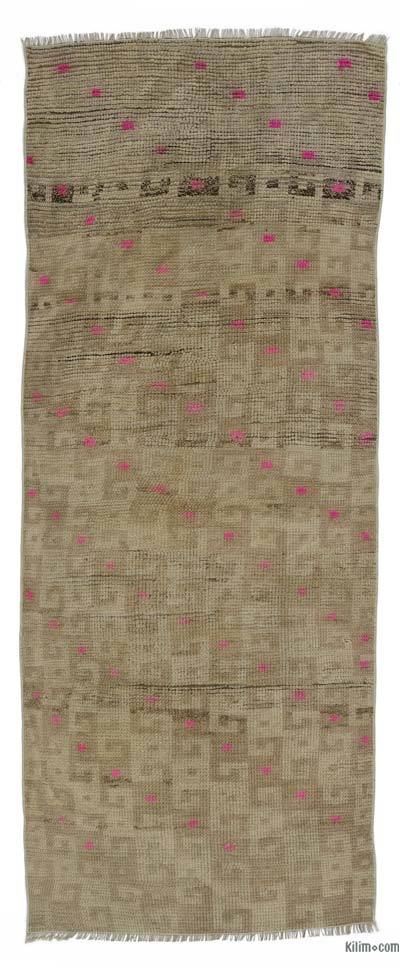 """Turkish Vintage Area Rug - 3'  x 7' 8"""" (36 in. x 92 in.)"""