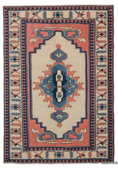 """Turkish Vintage Area Rug - 6'1"""" x 8'9"""" (73 in. x 105 in.)"""