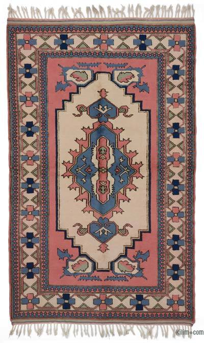 """Turkish Vintage Area Rug - 5' 3"""" x 8' 8"""" (63 in. x 104 in.)"""
