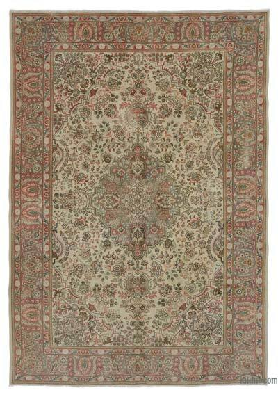 "Turkish Vintage Area Rug - 6' 5"" x 9' 2"" (77 in. x 110 in.)"