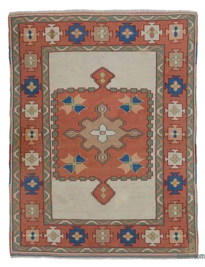 "Turkish Vintage Area Rug - 5'1"" x 6'8"" (61 in. x 80 in.)"