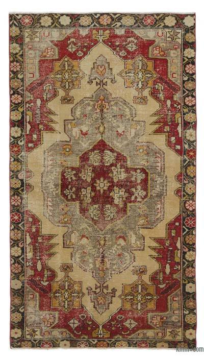 """Turkish Vintage Area Rug - 3'9"""" x 6'8"""" (45 in. x 80 in.)"""