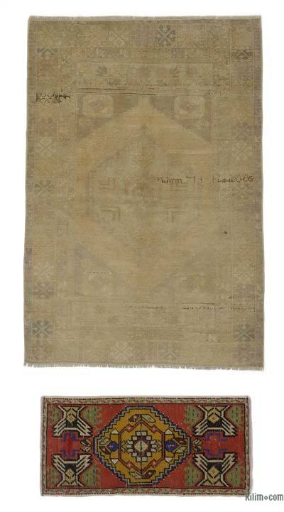 "Turkish Vintage Area Rug - 3' 8"" x 5' 2"" (44 in. x 62 in.)"