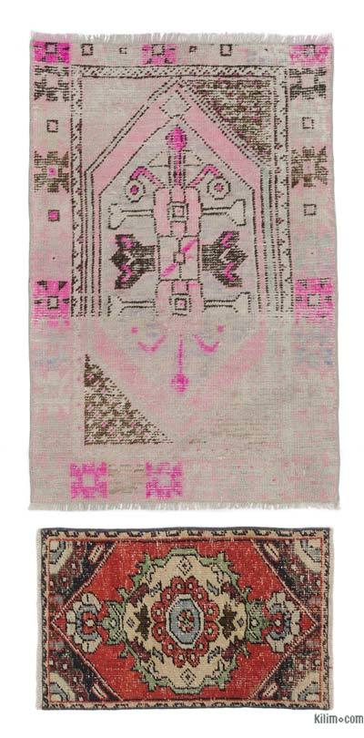 "Turkish Vintage Area Rug - 2' 9"" x 4'  (33 in. x 48 in.)"