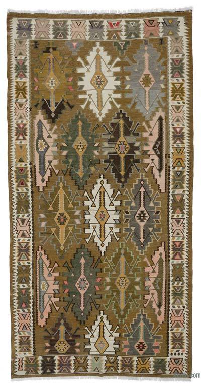 Multicolor Alfombra Vintage Shirvan Kilim - 175 cm x 342 cm