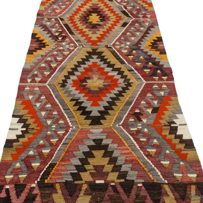"""Multicolor Vintage Aydin Kilim Runner - 2' 11"""" x 11' 7"""" (35 in. x 139 in.) - K0047131"""