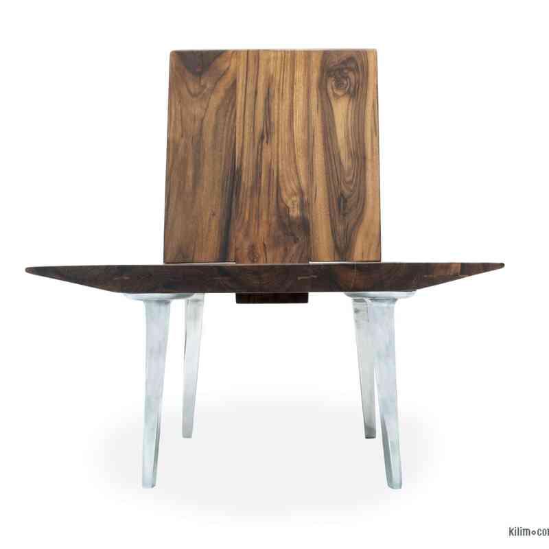 Unique Walnut Chair with Sand Cast Aluminium Legs - K0047135