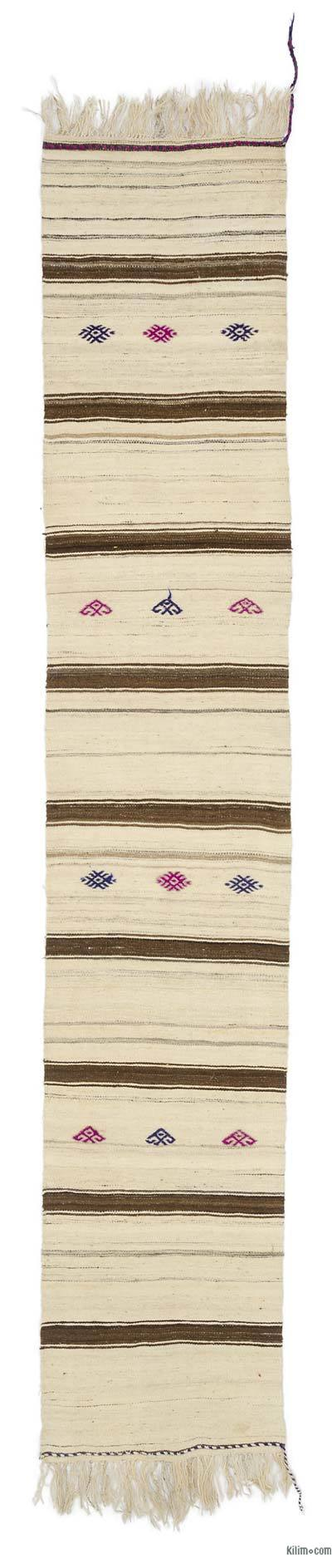"Vintage Turkish Kilim Runner - 2'3"" x 12'1"" (27 in. x 145 in.)"