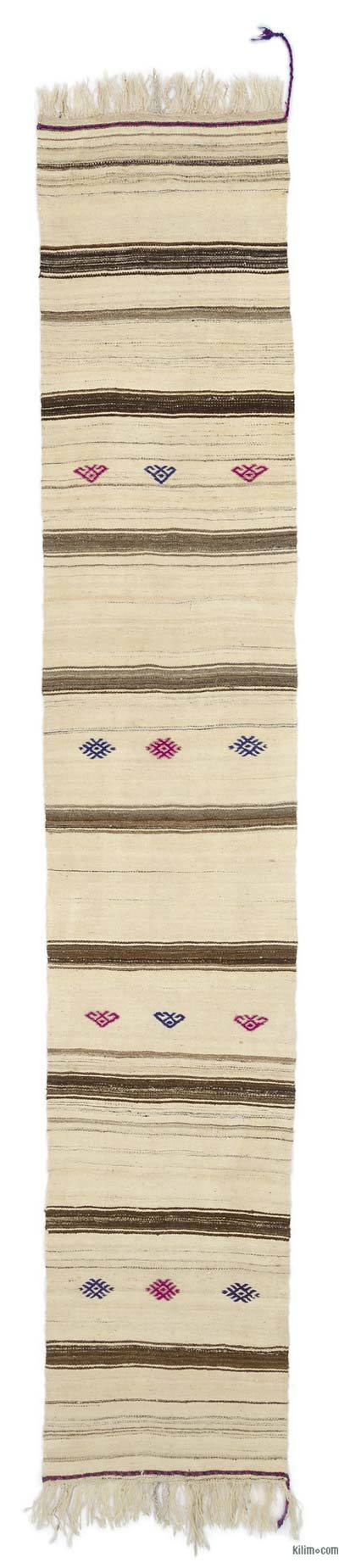 "Vintage Turkish Kilim Runner - 2'3"" x 12'2"" (27 in. x 146 in.)"