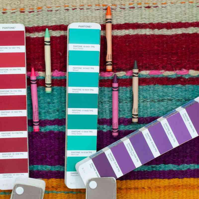 "Multicolor Vintage Turkish Kilim Runner - 2' 5"" x 13' 6"" (29 in. x 162 in.) - K0047157"