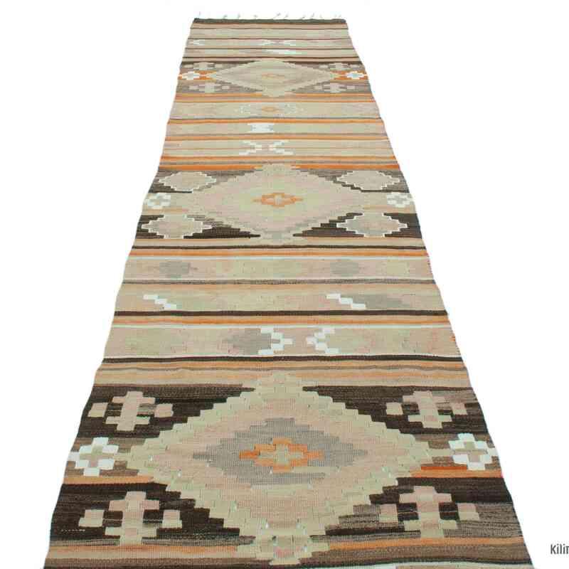 Multicolor Vintage Puturge Kilim Runner - 2' 6# x 12' 8# (30 in. x 152 in.) - K0047577