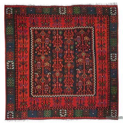 "Multicolor Vintage Manastir Kilim Rug - 13' 1"" x 13' 8"" (157 in. x 164 in.)"
